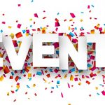 Delicious & Fun June Events! - the word events with lots of confetti
