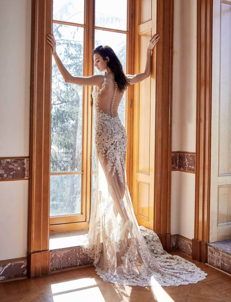 Creme Couture- Woman in gorgeous wedding dress
