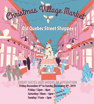 December 6 – 8 2019 Christmas Village Market