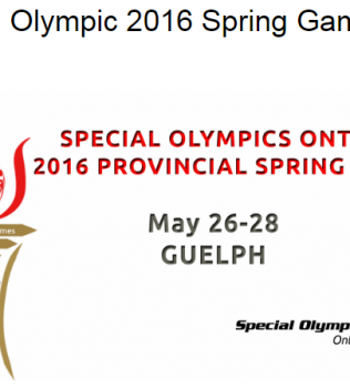 Special Olympic 2016 Spring Games in Guelph